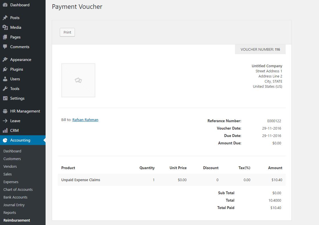reimbursement-payment-invoice
